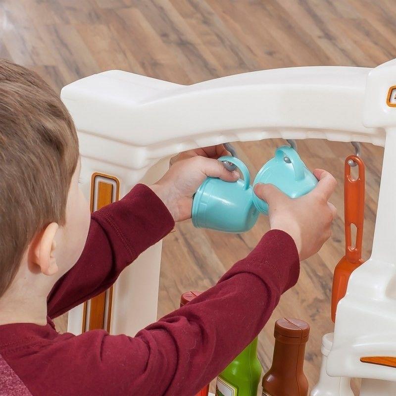 Step2 Duża Kuchnia Kącik Kuchenny 40 Akc. Dla Dzieci z Dźwiękami Zabawa z Przyjaciółmi