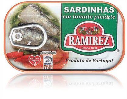 Sardynki portugalskie pikantne w pomidorach Ramirez 125g