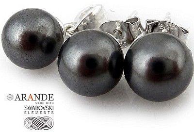 Kryształy Perły Komplet Certyfikat Dark Grey