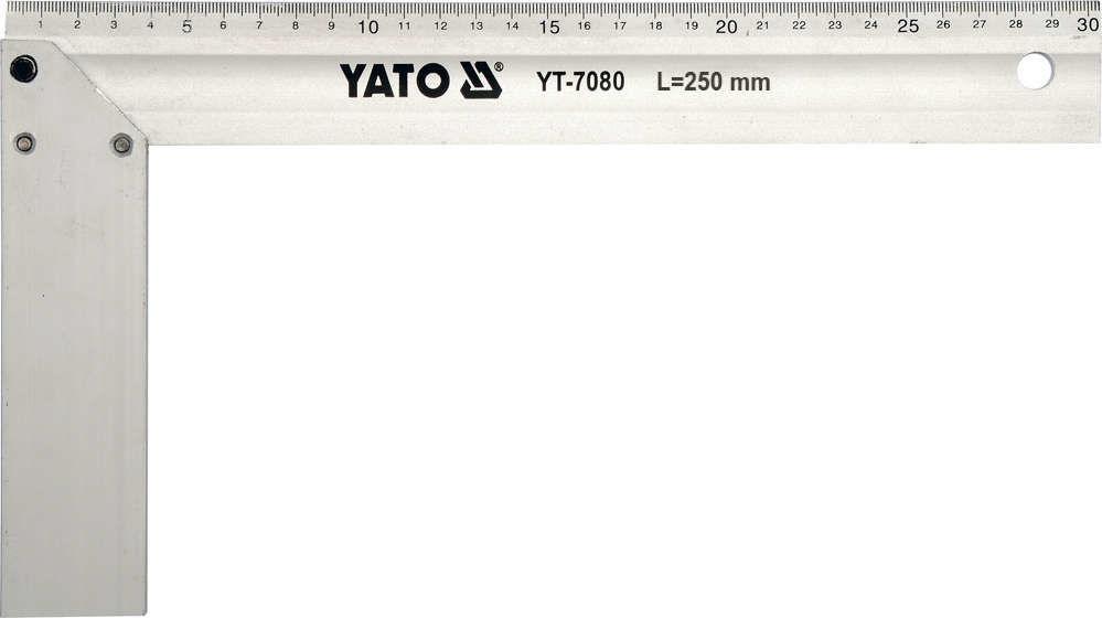 Kątownik aluminiowy 250 mm. Yato YT-7080 - ZYSKAJ RABAT 30 ZŁ