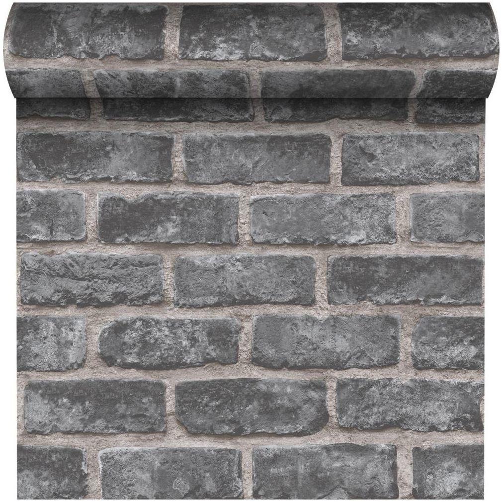 Tapeta Grey Brick 3D szara imitacja cegły winylowa na flizelinie Inspire