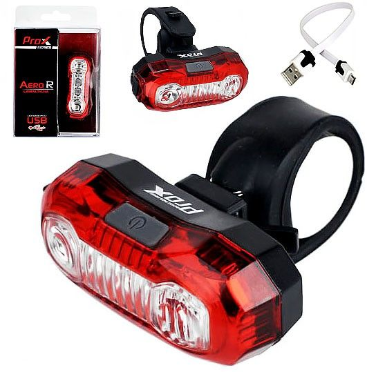 Lampa tylna /akumulator/ PROX AERO R 2 LED 0,5W USB
