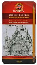 Koh i Noor Art Ołówki Grafitowe 1502/II 8B-2H 12sz