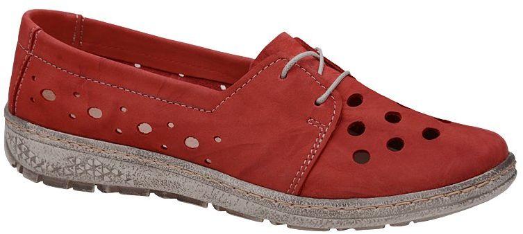 Półbuty KACPER 2-5236-489 Czerwone ażurowe Sneakersy damskie