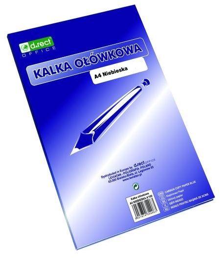 Kalka ołówkowa d.rect A4 niebieska, 50 szt. -  Rabaty  Porady  Hurt  Wyceny   sklep@solokolos.pl   tel.(34)366-72-72