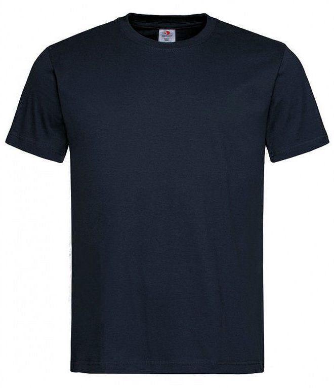 Ciemny Granatowy Bawełniany T-Shirt Męski Bez Nadruku STEDMAN Koszulka, Krótki Rękaw, Basic, U-neck TSJNPLST2000bluemidnihgt
