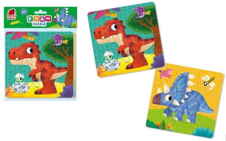 Piankowe puzzle 2w1. Dinozaury - Roter Kafer