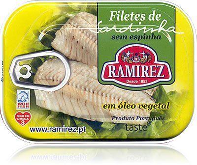 Filety z sardynek portugalskich w oleju roślinnym Ramirez 100g