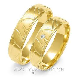 Obrączki ślubne Złoty Skorpion  wzór Au-A125