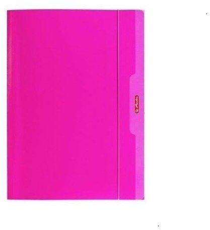 Teczka A4 z gumką Color Blocking różowy - HERLITZ