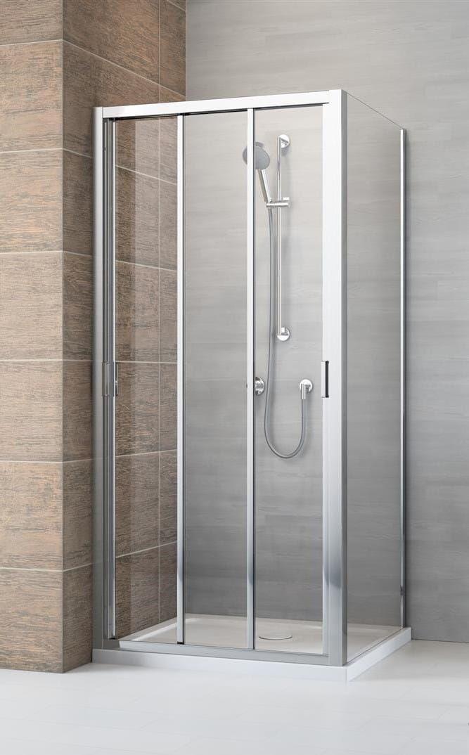 Kabina prysznicowa Radaway Evo DW+S 90x75 cm, szkło przejrzyste wys. 200 cm, 335090-01-01/336075-01-01