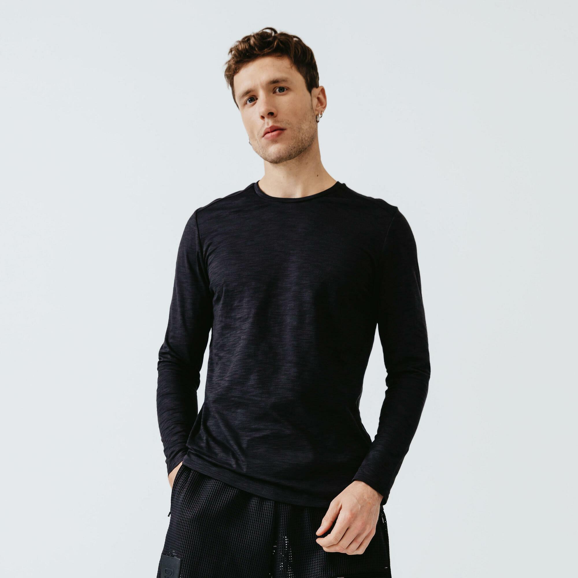 Koszulka Do Biegania Długi Rękaw Dry+ Męska