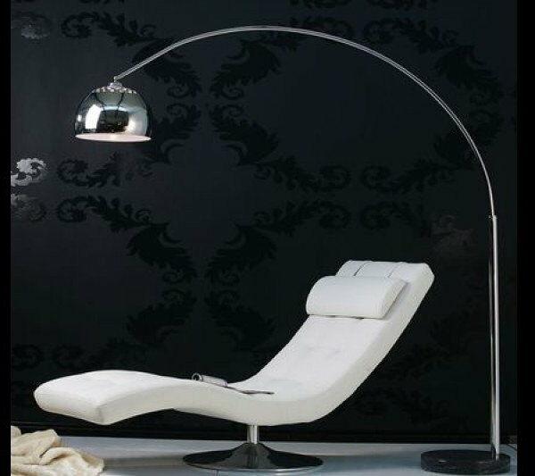 Lampa podłogowa Bowl 170-210 cm chrom, czarny