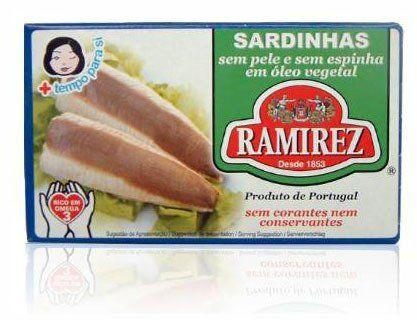Sardynki portugalskie bez skóry i bez ości w oleju roślinnym Ramirez 125g