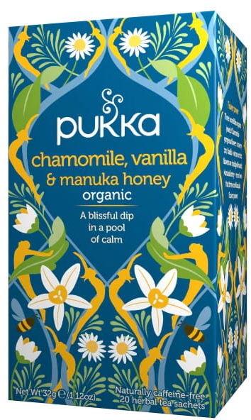 Pukka Chamomile, Vanilla & Manuka Honey BIO 20 saszetek