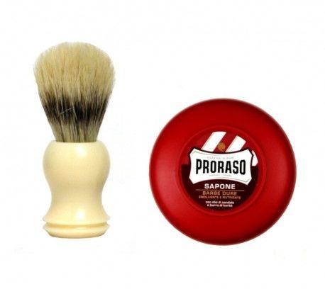 Pędzel do golenia + mydło Proraso 150 ml