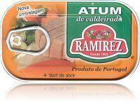 Tuńczyk portugalski duszony z warzywami w białym winie Ramirez 120g