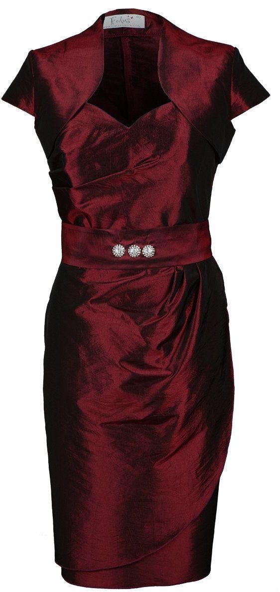 Sukienka FSU179 BORDOWY