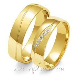 Obrączki ślubne Złoty Skorpion  wzór Au-A126