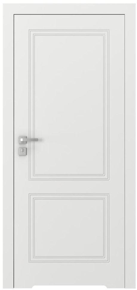 Skrzydło drzwiowe bezprzylgowe z podcięciem wentylacyjnym VECTOR V Białe 90 Prawe PORTA