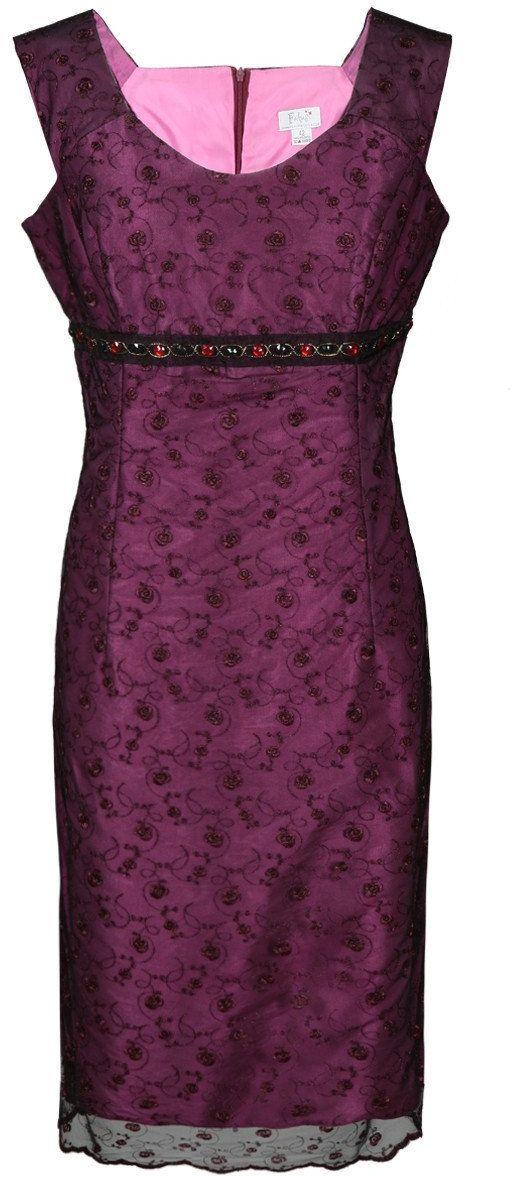 Sukienka FSU161 AMARANTOWY ŚREDNI