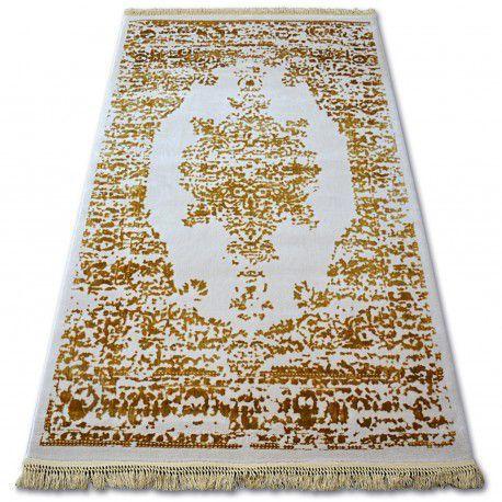 Dywan AKRYL MANYAS 192AA Kość słoniowa/Złoty frędzle 80x150 cm