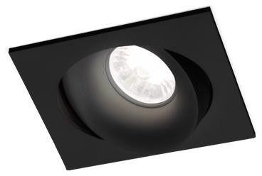 RON 1.0 LED czarny - Wever & Ducré - oprawa wpuszczana  GWARANCJA NAJNIŻSZEJ CENY!