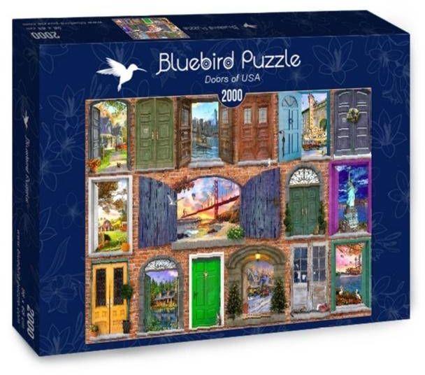 Puzzle 2000 Drzwi do USA - Bluebird Puzzle
