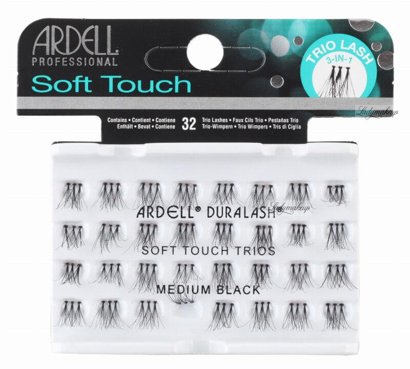 ARDELL - Soft Touch Trios - Potrójne kępki rzęs - MEDIUM BLACK