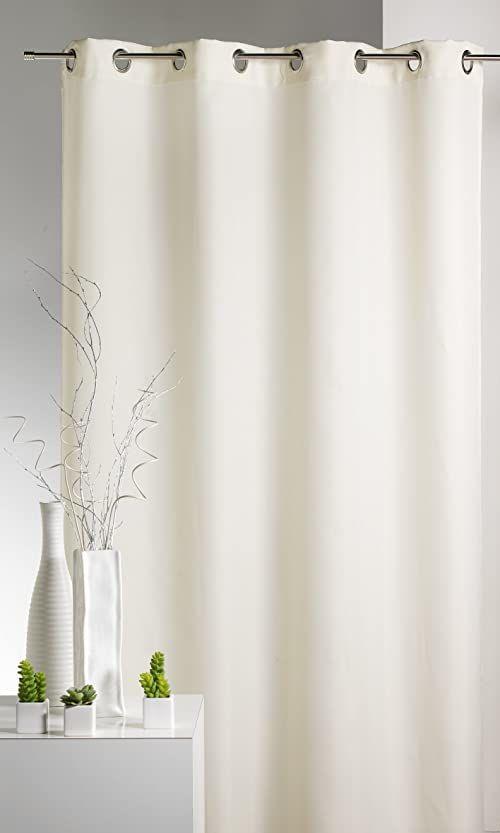HomeMaison Zasłona, Uni mikrofibra w kolorze kości słoniowej 135 x 180 cm
