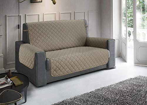 Pikowana narzuta na sofę, wodoodporna, odporna na zabrudzenia, antypoślizgowa, kolor taupe