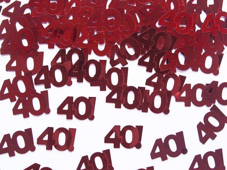 Konfetti urodzinowe 40 na urodziny 15g kons35-40