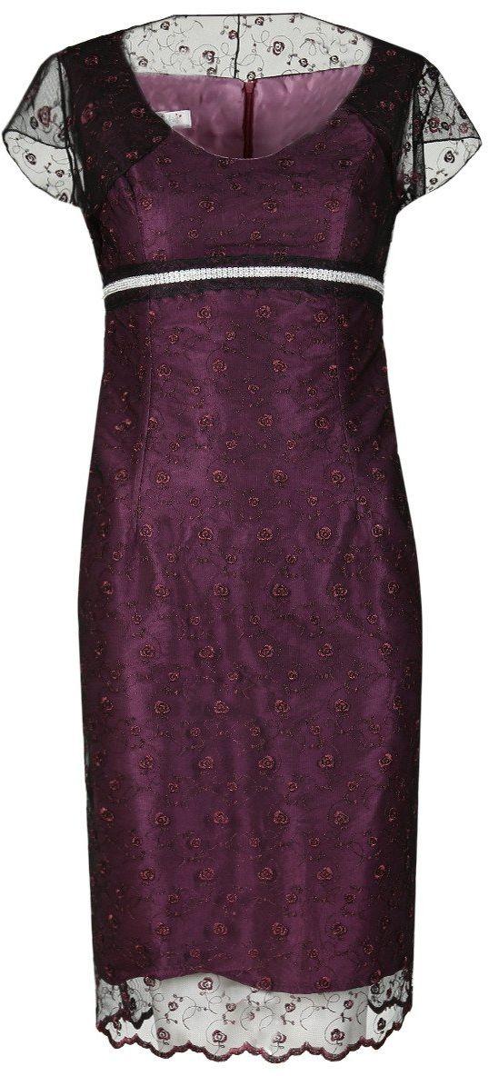 Sukienka FSU161 AMARANTOWY CIEMNY