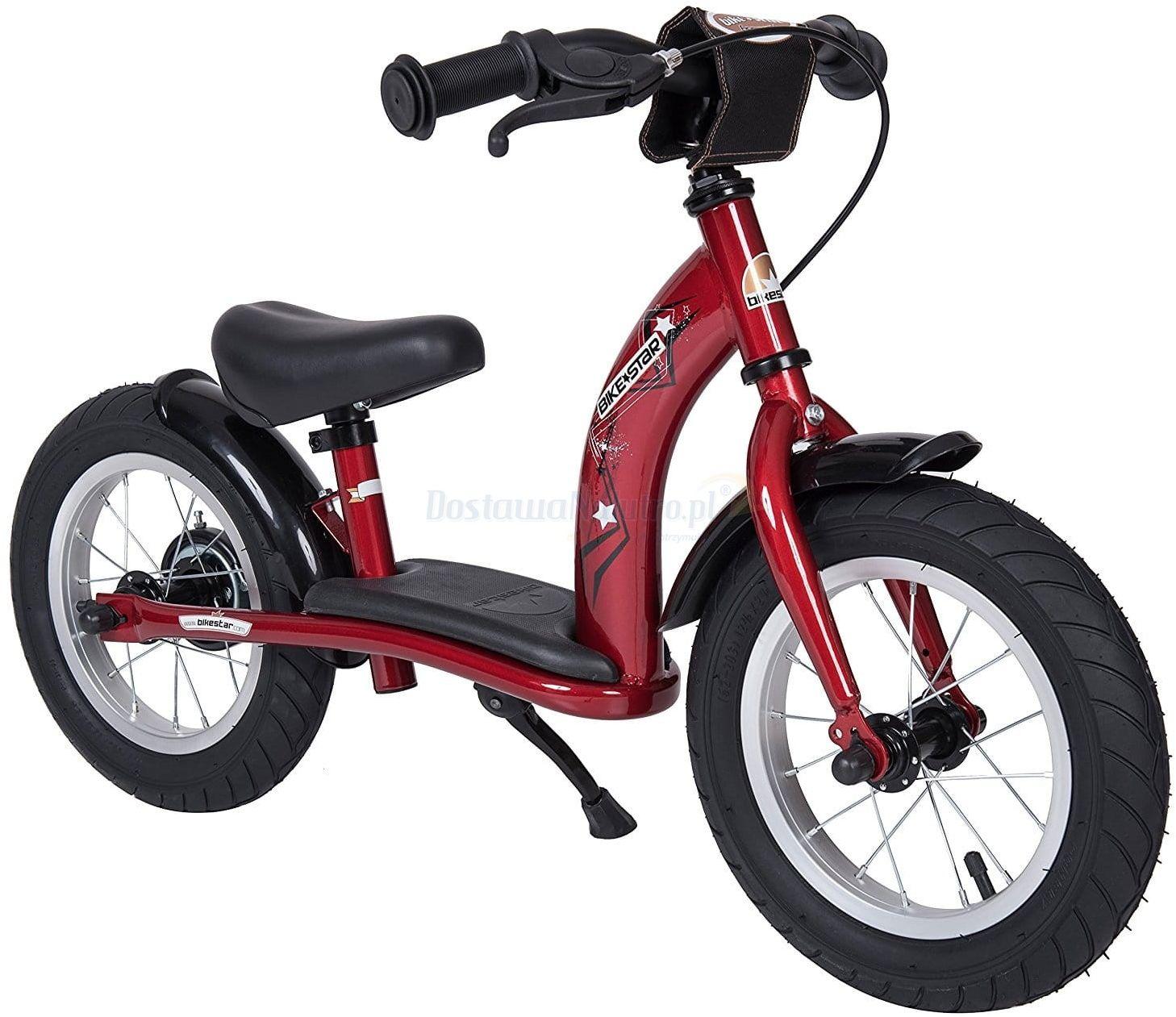 """Rowerek biegowy 12"""" XL BIKESTAR GERMANY classic czerwony"""