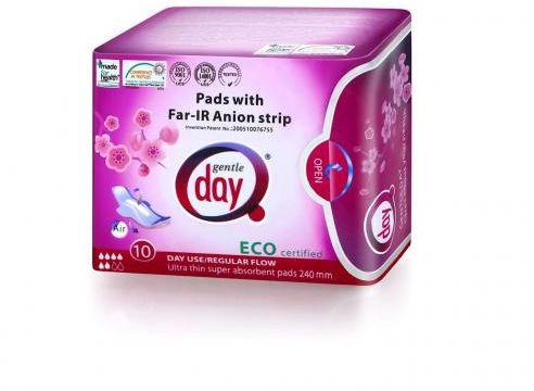 Podpaski higieniczne na dzień z paskiem anionowym 10 SZT Gentle Day