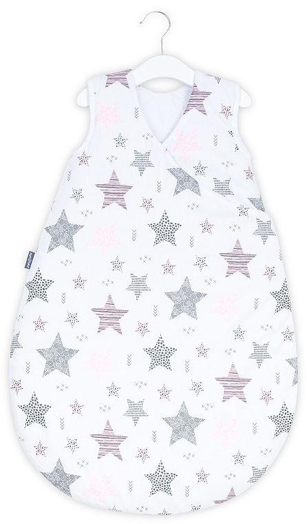 MAMO-TATO Śpiworek niemowlęcy do spania Bubble - Starmix różowy