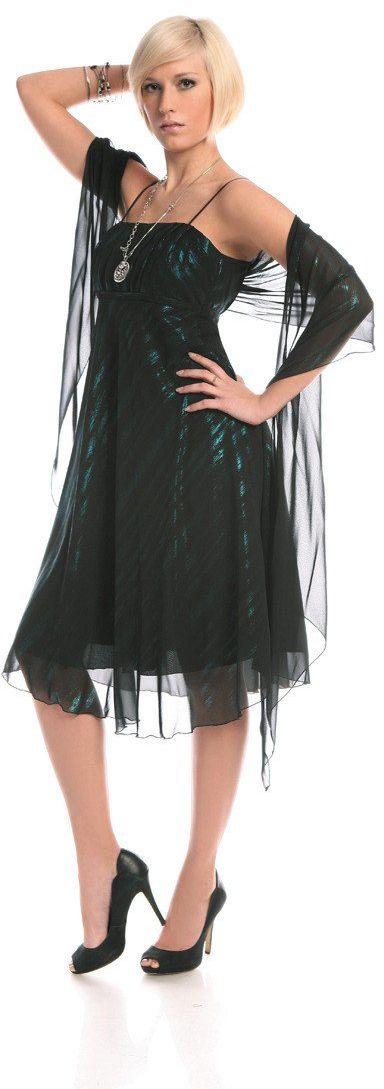 Sukienka FSU117 CZARNY TURKUSOWY