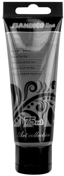Farba akrylowa 75 ml Flamingo 369909 369909, Kolor: Perłowa grafitowa