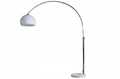 Lampa podłogowa Bowl 175-205 cm biała