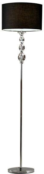 ŻARÓWKA LED GRATIS! Lampa podłogowa Rea RLL93163-1B Zuma Line chromowo-czarna oprawa w stylu nowoczesnym