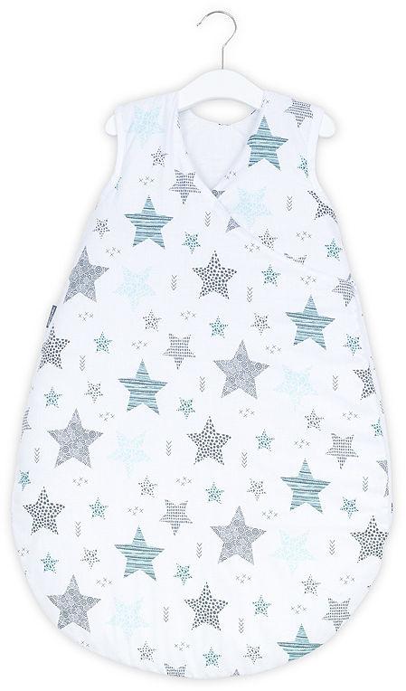 MAMO-TATO Śpiworek niemowlęcy do spania Bubble - Starmix turkus