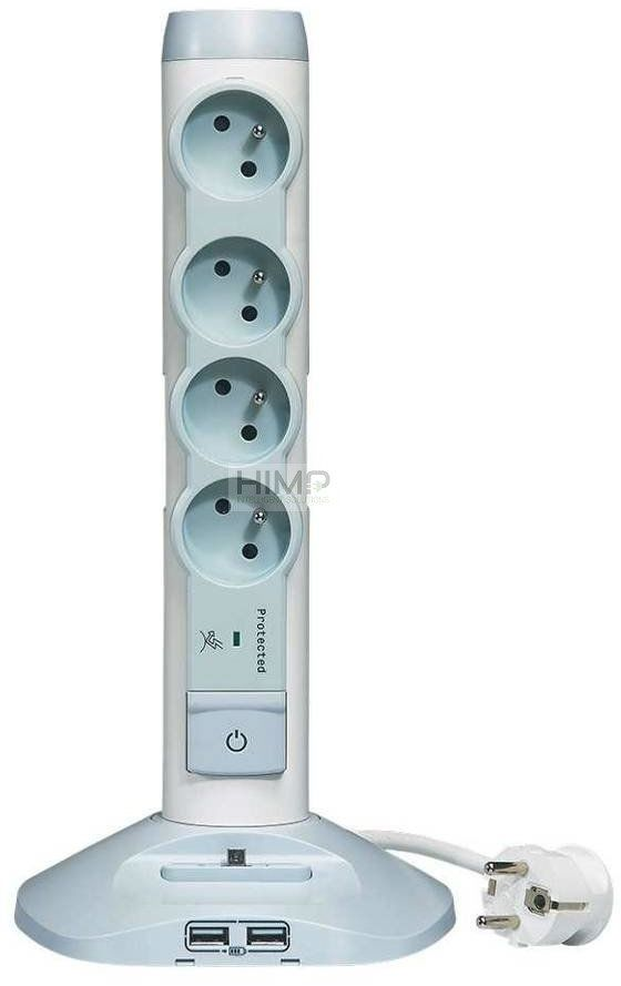 Przedłużacz pionowy 4x2P+Z+2xUSB+1xmicro USB - 2,0m 50014 Legrand