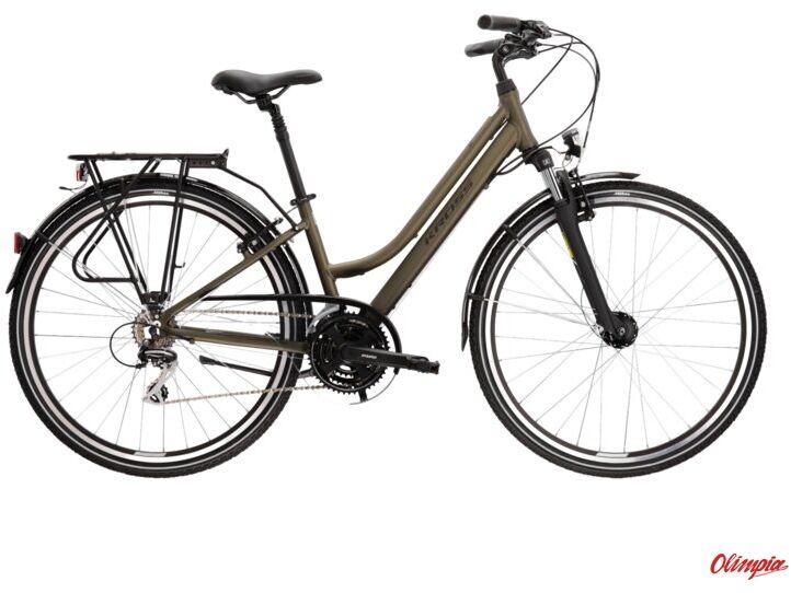 Rower Kross Trans 3.0 khaki/czarny mat 2022