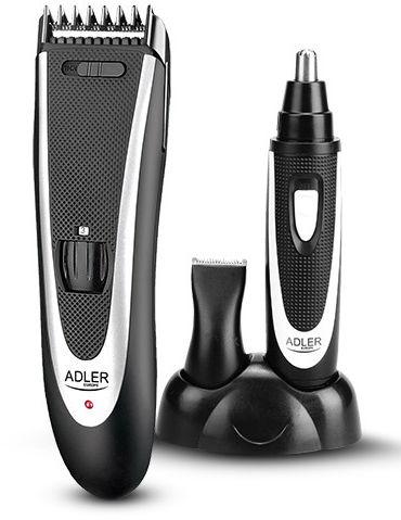 Adler Handsome Czarna - Maszynka Do Strzyżenia Elektryczna Z Trymerem - /W72h/