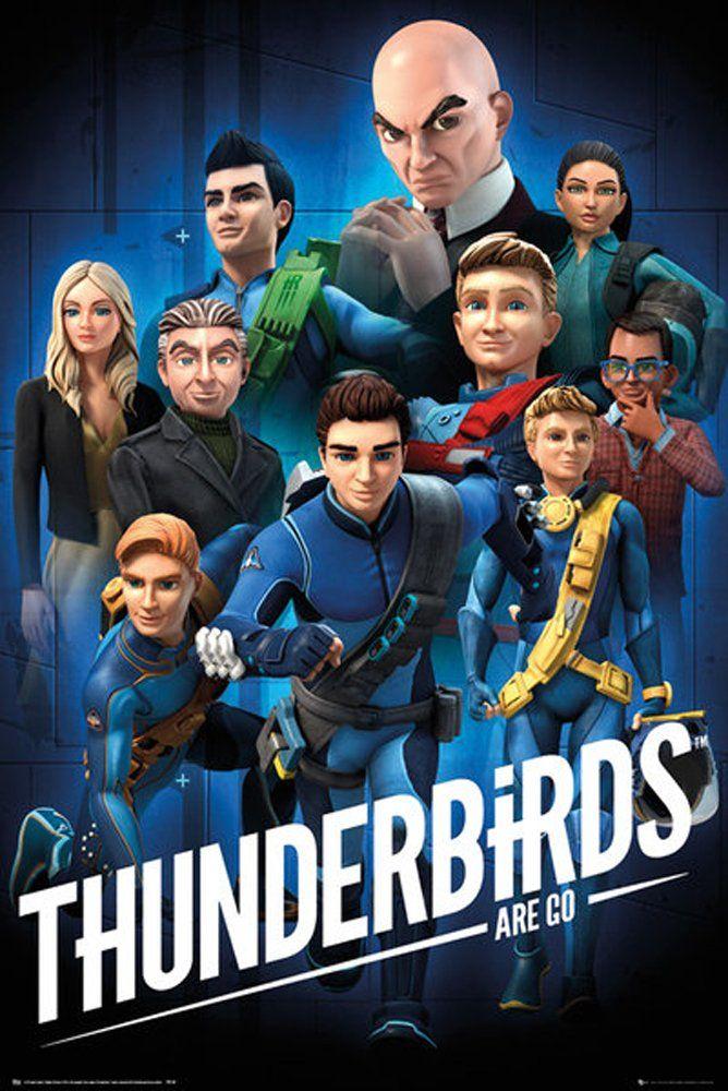 empireposter Thunderbirds Are Go ptaki ognia gotowy do start-kolaż plakat drukowany rozmiar 61 x 91,5 cm, papier, kolorowy, 91,5 x 61 x 0,14 cm