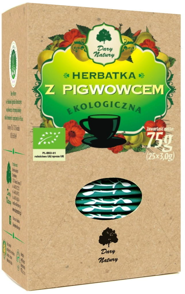 Herbatka z pigwowcem bio 25 x 3 g - dary natury