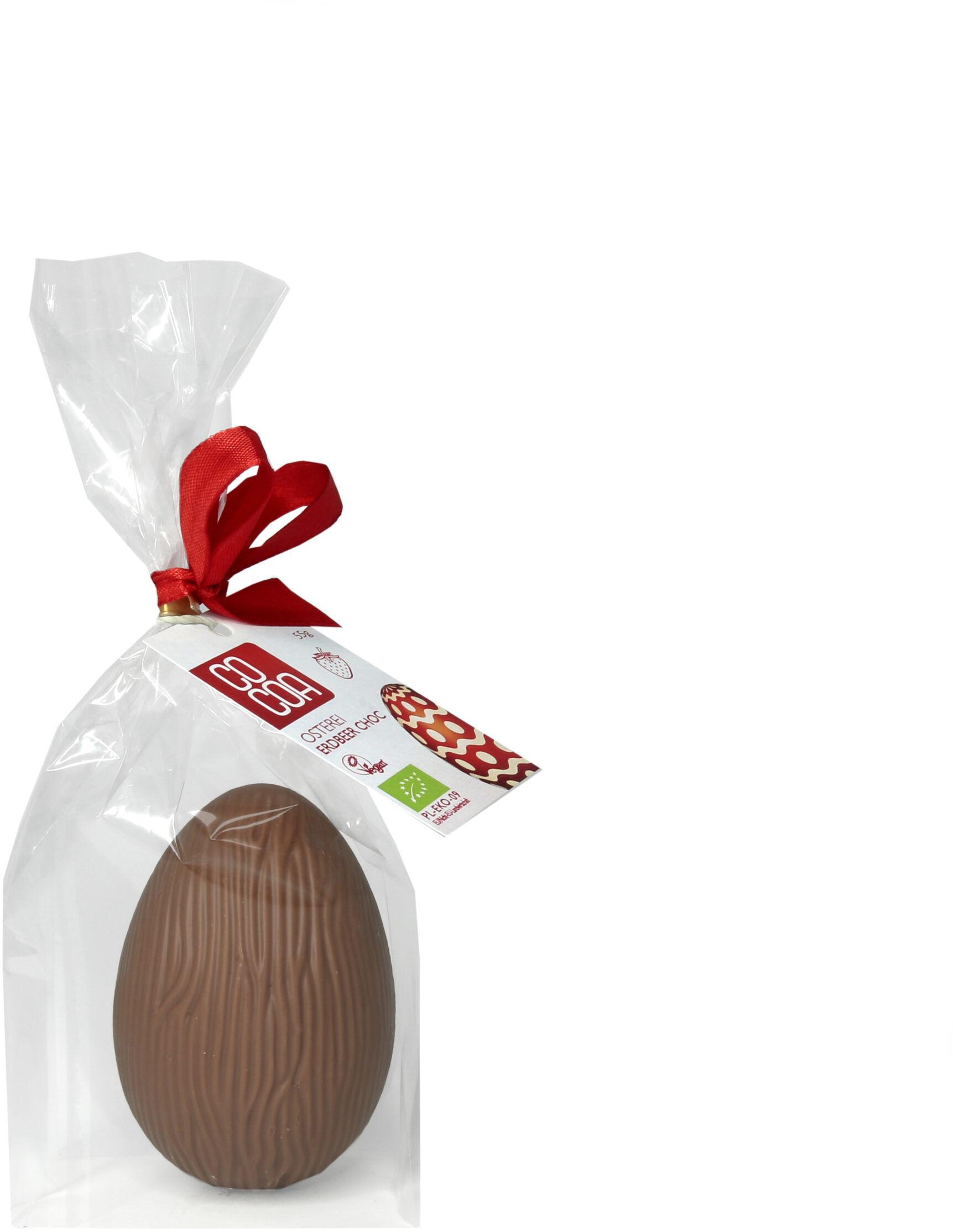 Jajko Wielkanocne o smaku truskawkowym 55g - BIO