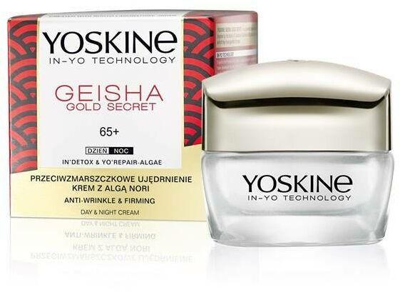 Yoskine Geisha Gold Secret 65+ Krem przeciwzmarszczkowe ujędrnienie na dzień i noc 50ml