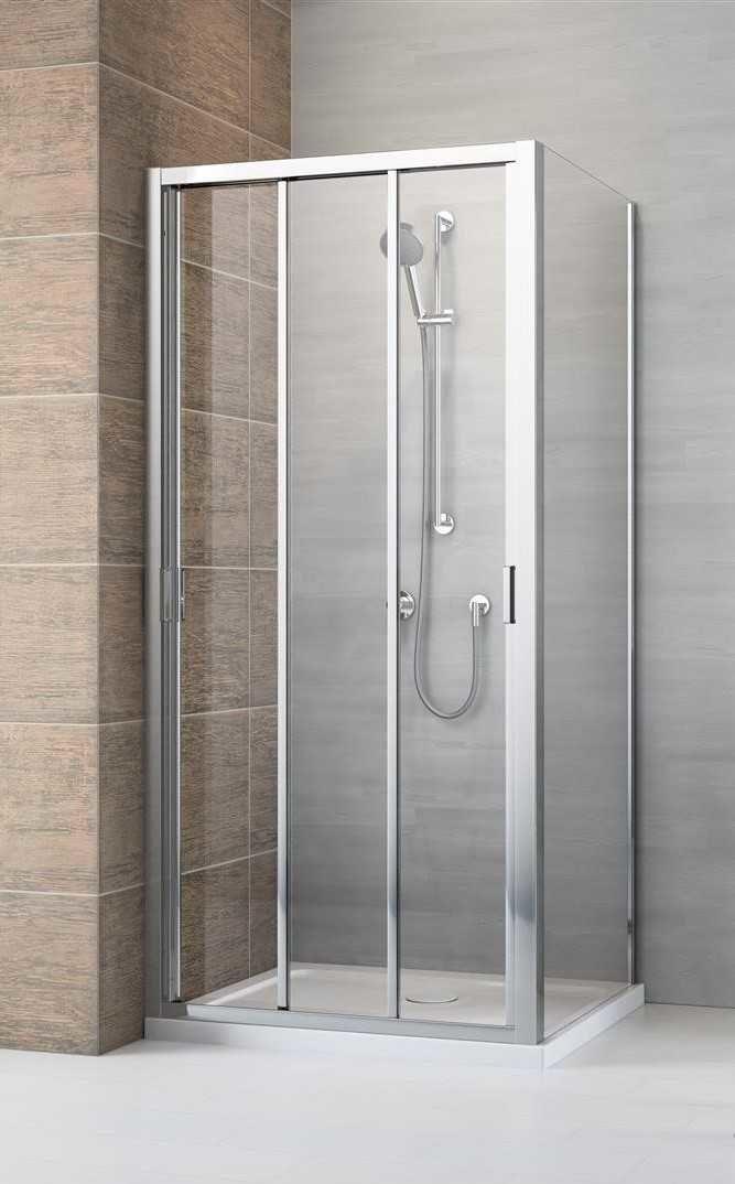 Kabina prysznicowa Radaway Evo DW+S 95x80 cm, szkło przejrzyste wys. 200 cm, 335095-01-01/336080-01-01