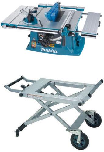 Zestaw: uniwersalna pilarka stołowa 260/30mm, 1600W, Makita [MLT100N] + Stół - wózek WST03 Makita [JM27000300]